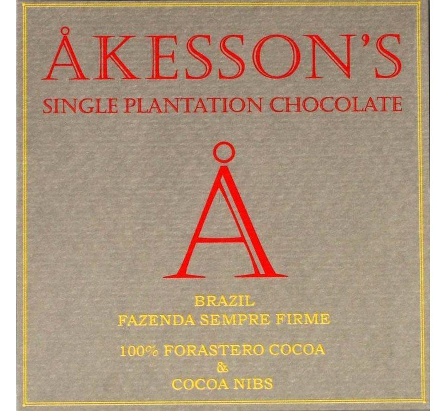 100% Cocoa and Cocoa Nibs Brazil Fazenda Sempre Firme