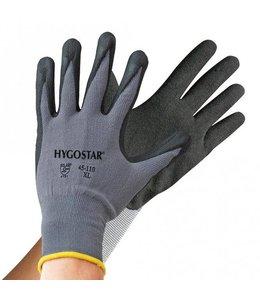 Hygostar Stretch gebreide handschoen ergo flex met 4/4 nitril coating - TAMPA