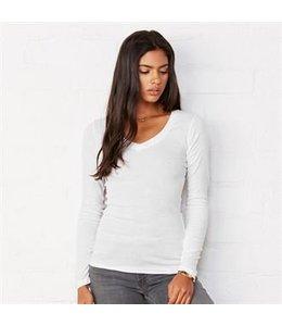 Bella UITVERKOOP; Dames V-nek t-shirt met lange mouwen - ANITA