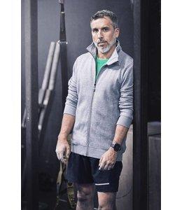 Printer Heren sweatshirt met contrasterende ritssluiting - JAVELIN