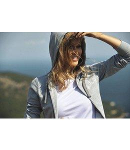harvest Dames sweatshirt met capuchon met metalen ritssluiting vooraan en aan de zakken - DUTCHESS