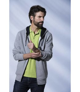 Clique Comfortabel full zip heren sweatvest met capuchon - ASCENDER