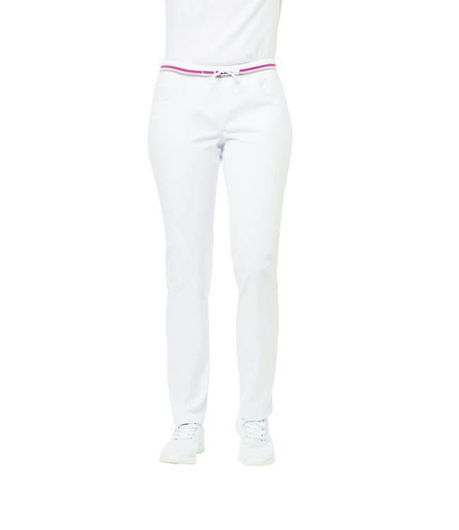 Leiber - Dames pantalon  met elastische band en strikband - HEATHER / EXTRA LANG
