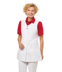 Leiber Dames tuniek mouwloos tuniek/schort met contrast stiksels en knopen - ALIA