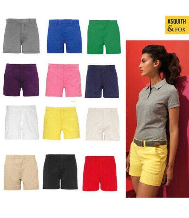 Front Row -dames chino shorts voor vrije tijd met elasthan -  LAMMIE