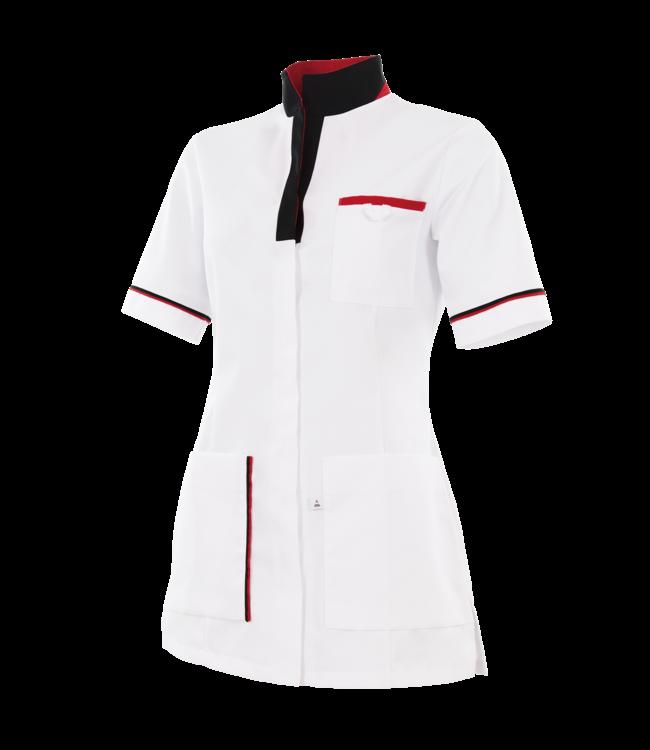 Care - dames tuniek LAVANDULA, met opstaande kraag, zijsplitjes, blinde drukknoopsluiting, borstzak