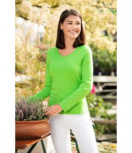 Malfini Dames t-shirt V-hals long sleeve - SIRKA