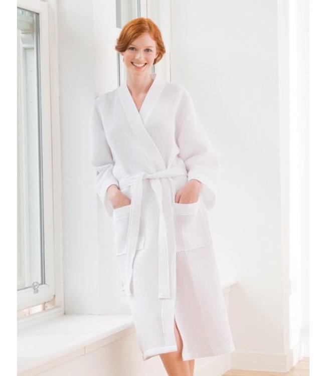 towel city - badjas JASMIJN, kimonostijl, opgezette zakken en riemlussen