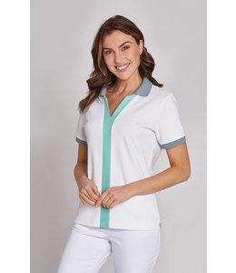 Leiber Dames shirt van zachte pique stof met mooi kleur details - KATEIN