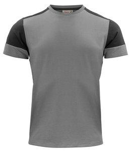 Printer NIEUW: Moderne, aansluitende 2 kleurig t-shirt met geribde hals - JUDIL