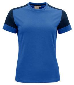 Printer NIEUW: Moderne, aansluitende DAMES 2 kleurig t-shirt met geribde hals - OSANNE