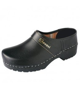 Gevavi PU gesloten schoenklomp zwart - BARTH