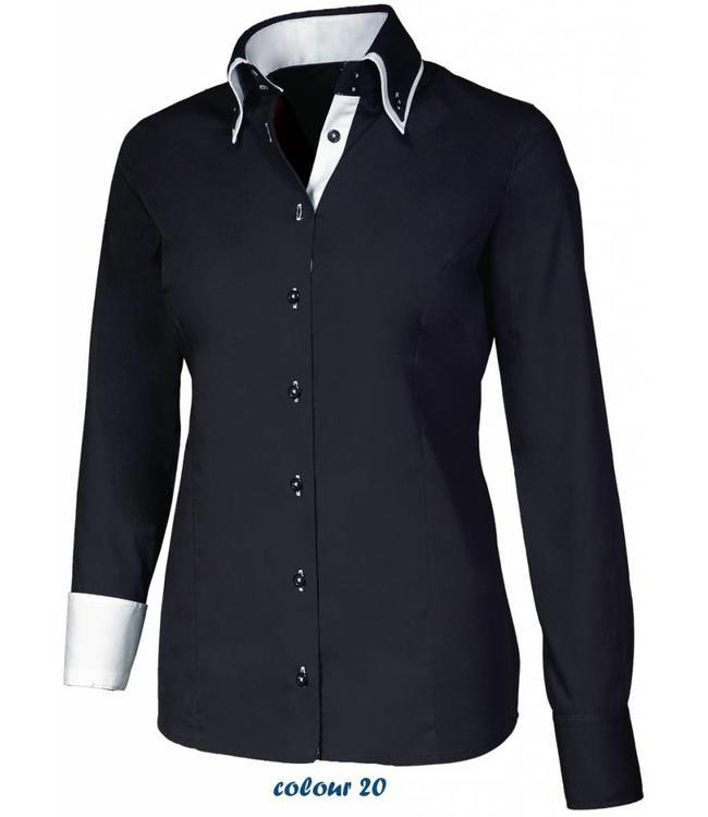 Dames Overhemd.Luxe Italiaans Dames Overhemd Met Knoopsluiting Button Down Kraag