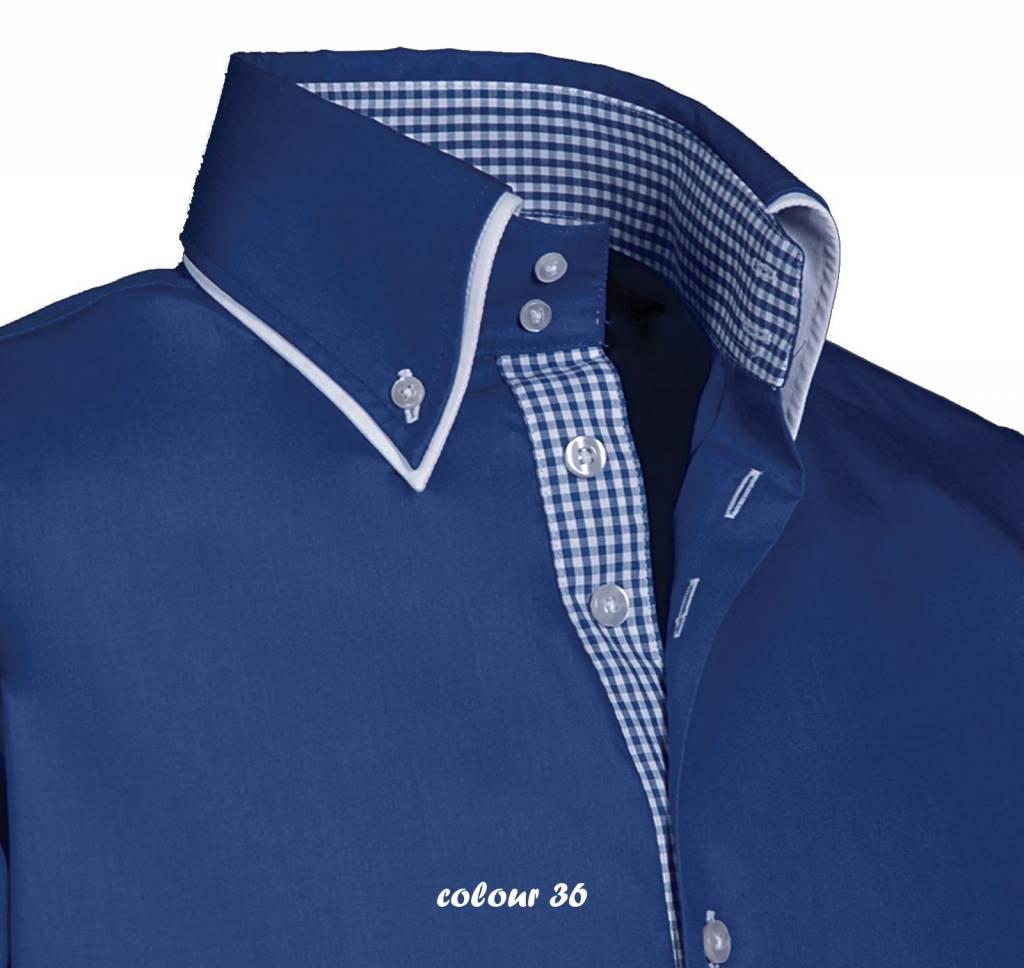 Italiaans Overhemd Heren.Luxe Italiaans Heren Overhemd Met Knoopsluiting Button Down Kraag