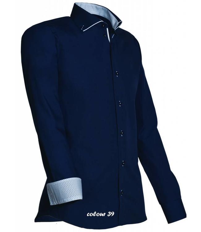 Overhemd Italiaans Design.Heren Overhemd Luxe Italiaans Design Met Knoopsluiting Met Mooie