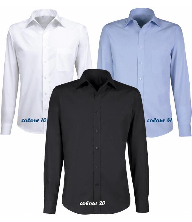 Giovanni Capraro - heren overhemd ELPIDIO, met opstaande kraag en verkrijgbaar in verschillende mouwlengtes