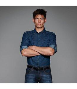 B & C UITVERKOOP; Denim blouse voor heren - ALESIO