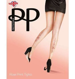 Pretty Polly Rose Tattoo Print Tights