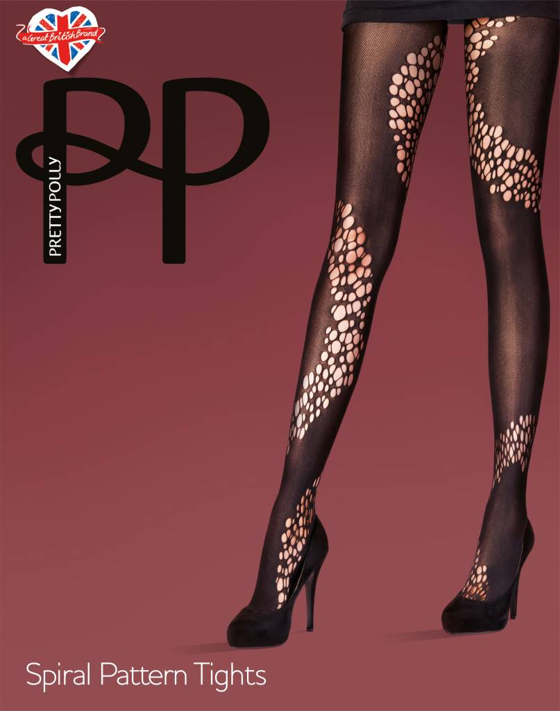 Pretty Polly Spiral Pattern Tights
