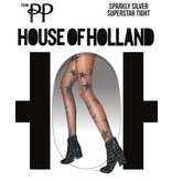 House of Holland Sparkly Silver Star Tights