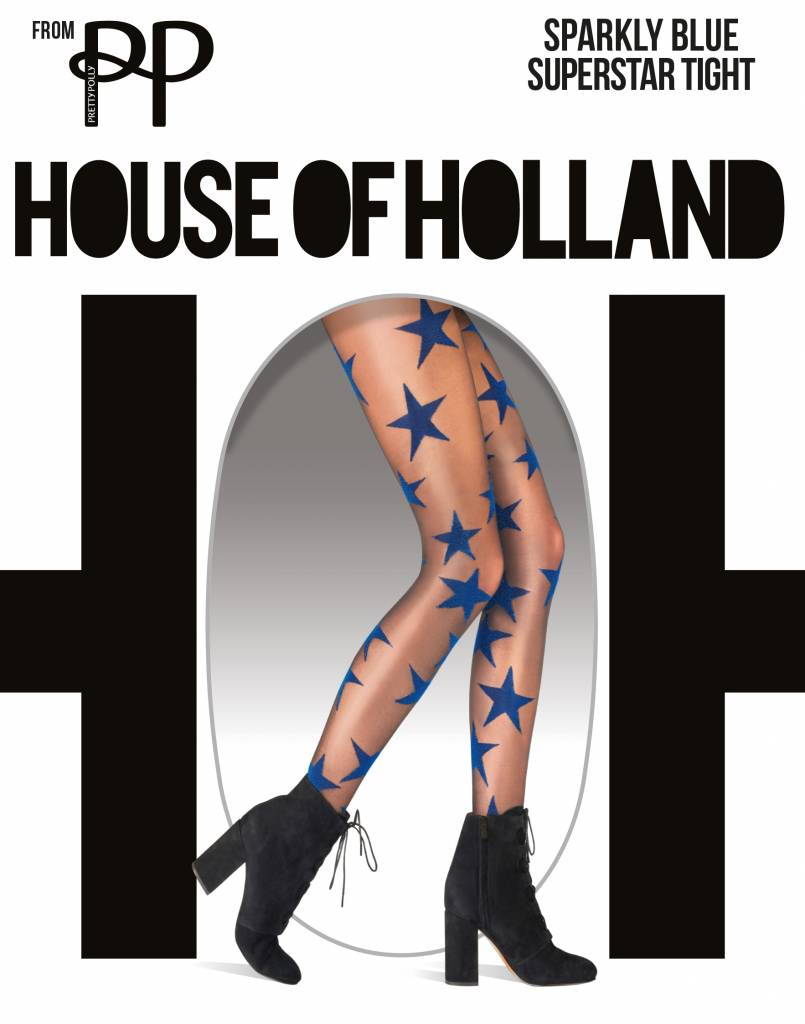House of Holland Sparkly Blue Star Panty