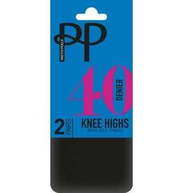 Pretty Polly 40D Opaque Kneehighs