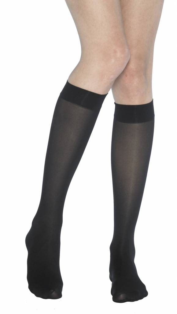 Pretty Polly 40D Opaque Kneehighs with silk finish 2 pair pack