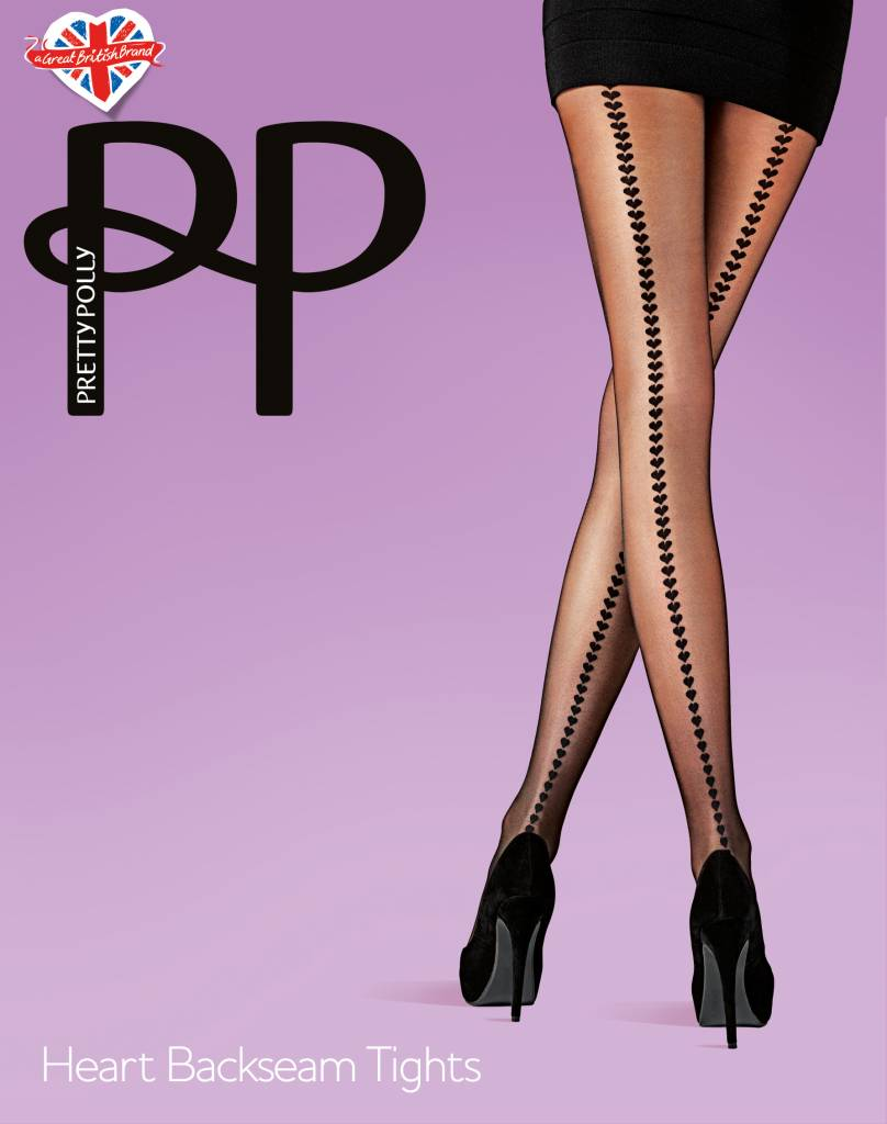 Pretty Polly Heart Backseam Tights