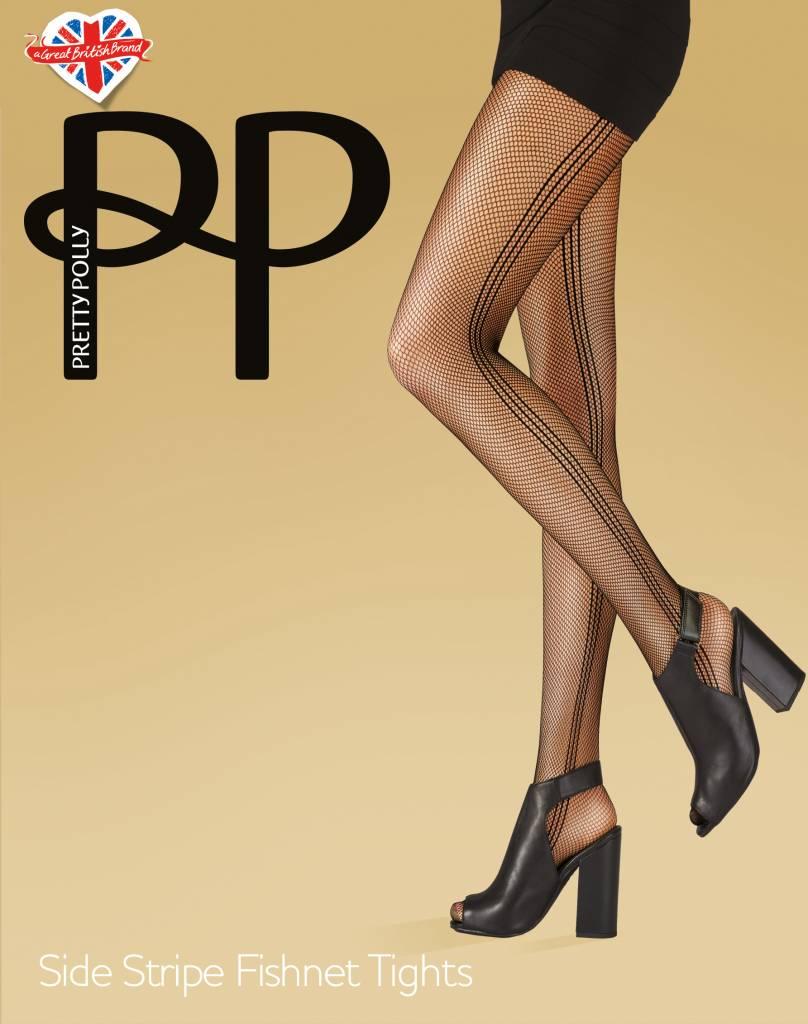 Pretty Polly Side Stripe Fishnet panty