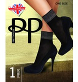 Pretty Polly Sokje  uit de serie fashion socks met lurex boordje