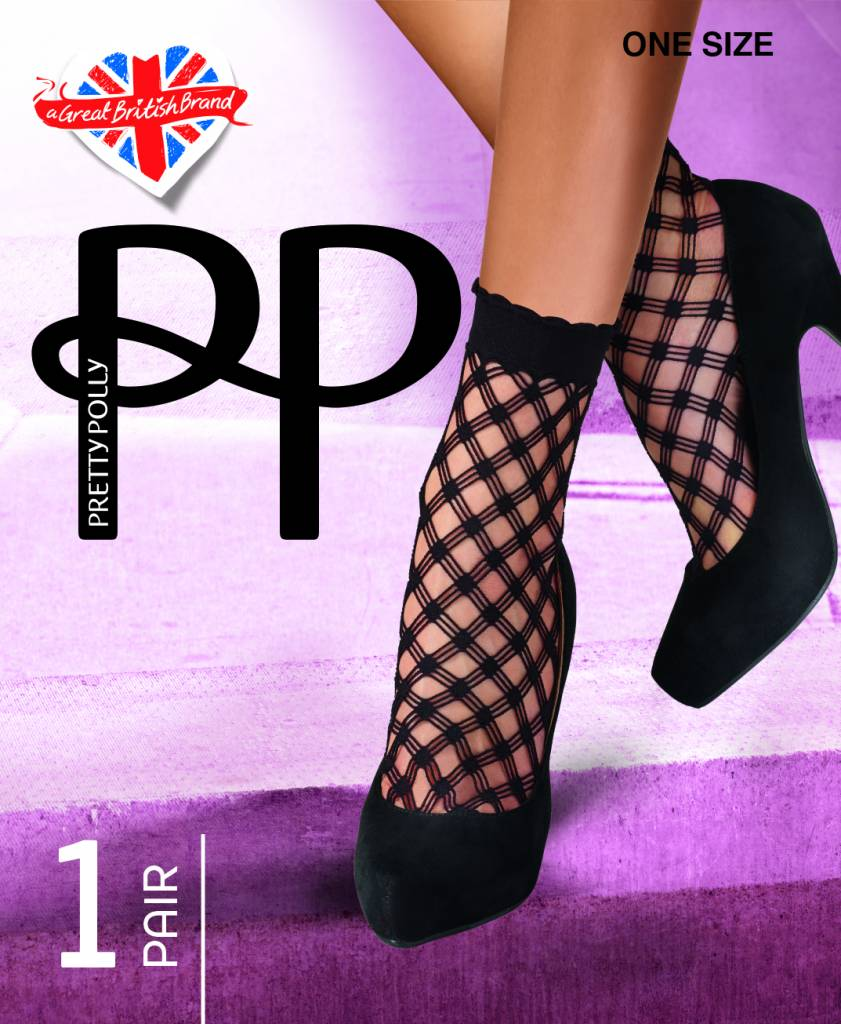 Pretty Polly Cris Cros Net Sokjes