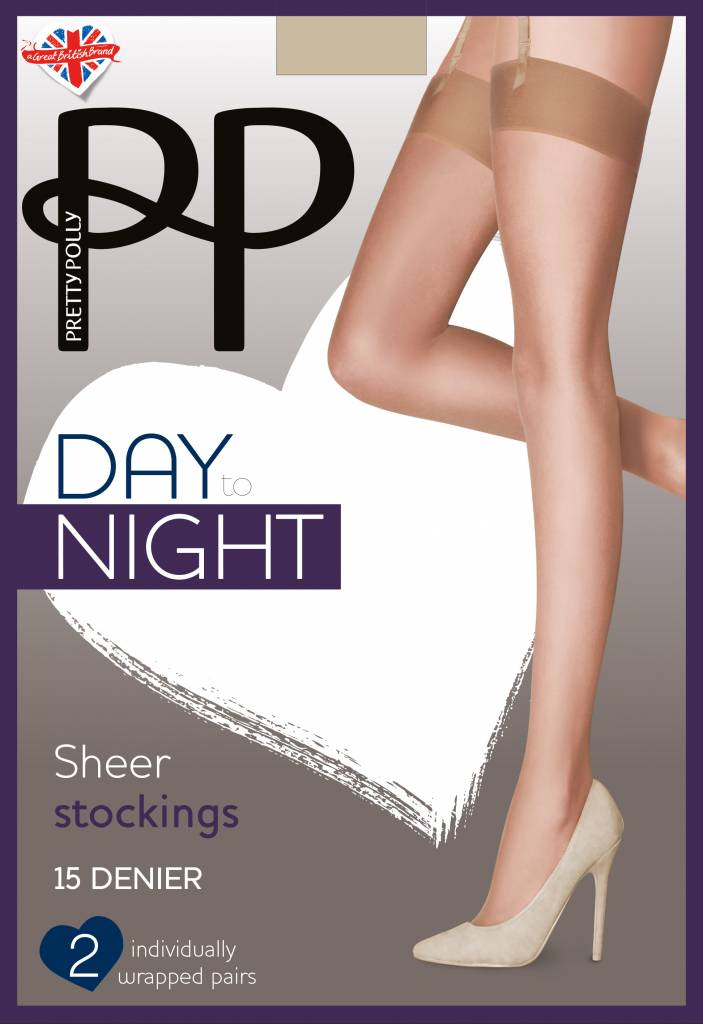 Pretty Polly 15D Sheer Stockings 2 pair pack