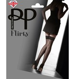 Pretty Polly Flirty Velvet Lace Top Hold Up with Backseam