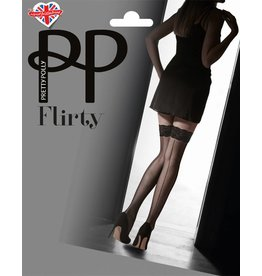 Pretty Polly Velvet Lace Top Hold Up with Backseam
