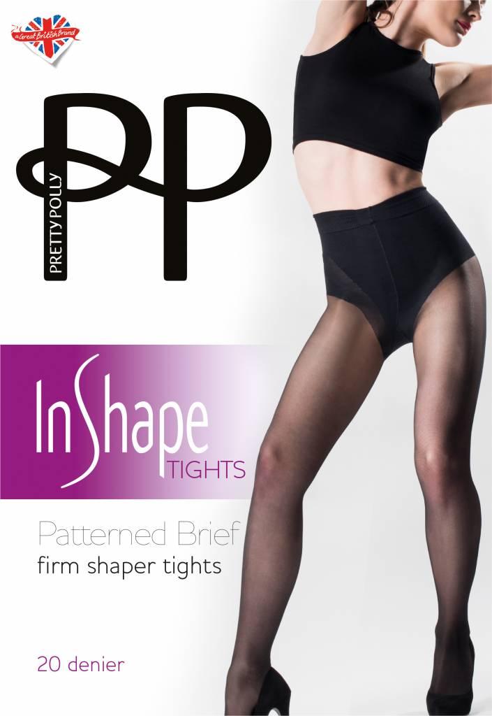 Pretty Polly Firm Shaper panty with patterned brief met katoenen kruisje