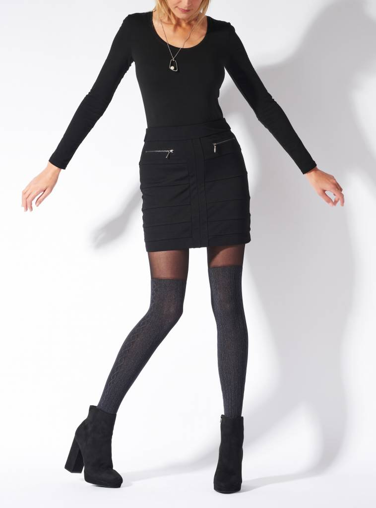 Pretty Polly Marl OTK Cable Sock Tights