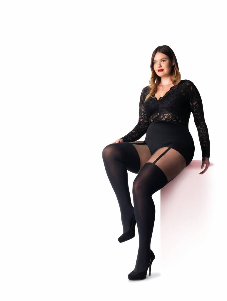 Pretty Polly 60D. Suspender Tights