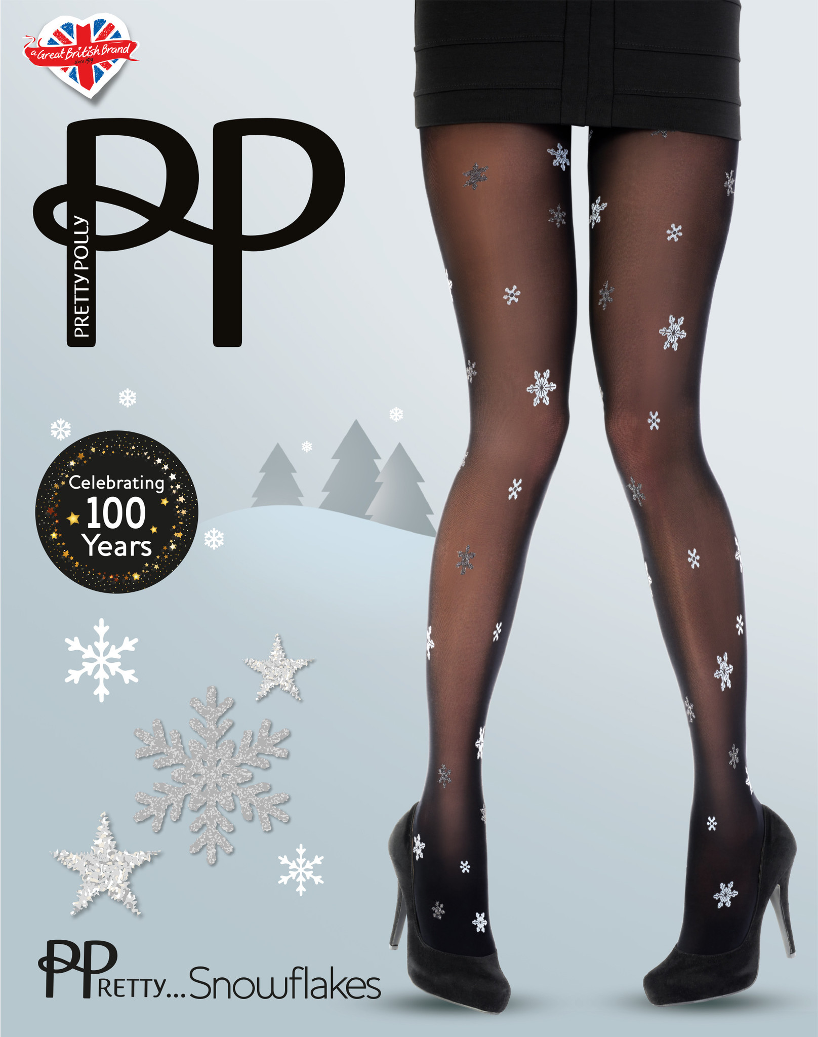 Pretty Polly Pretty All Over Snowflake Panty