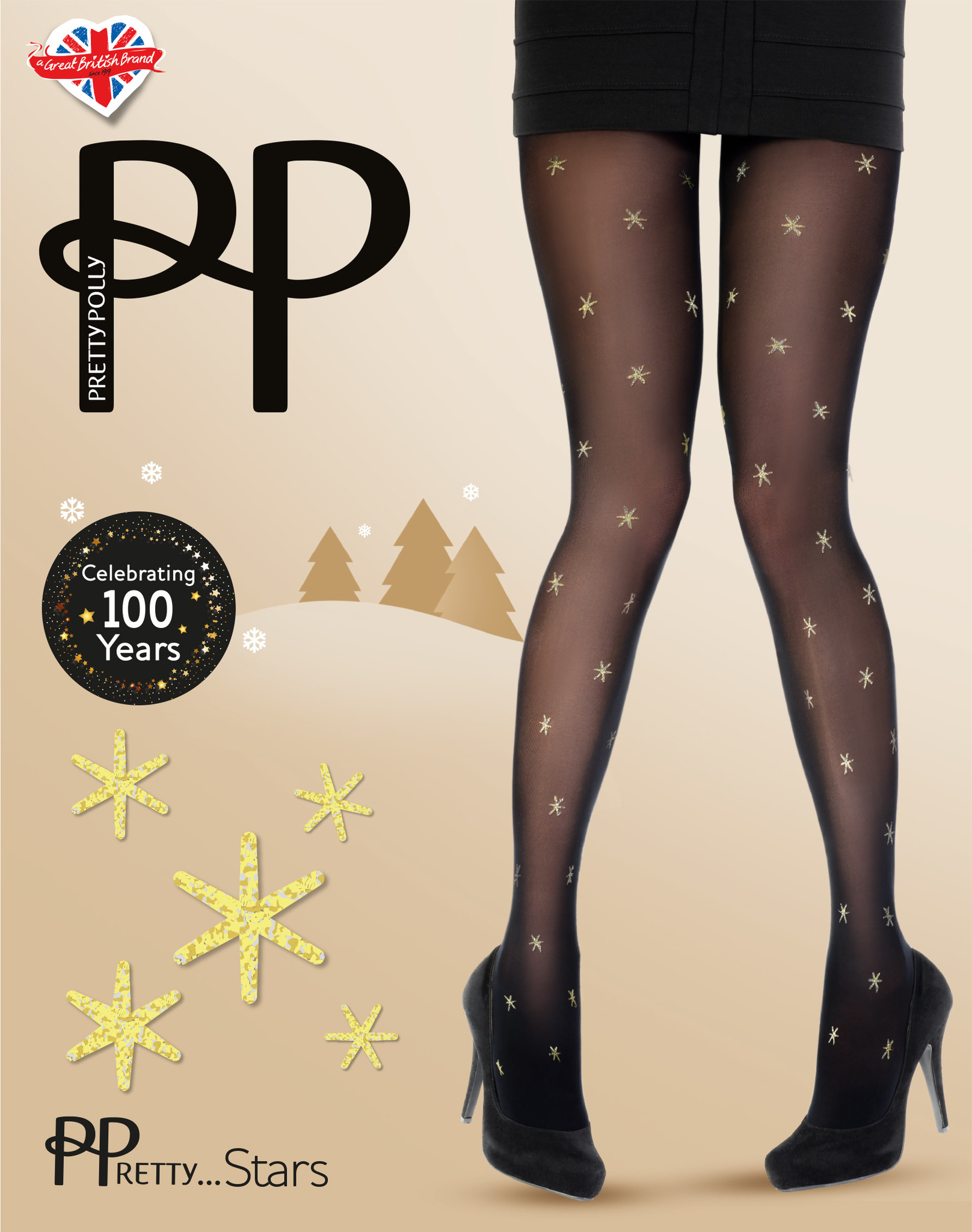 Pretty Polly Pretty All Over Star Panty