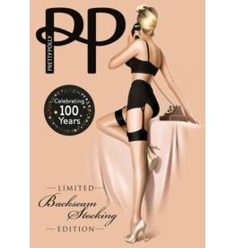 "Pretty Polly 10D. ""Nylons""Backseam stockings"