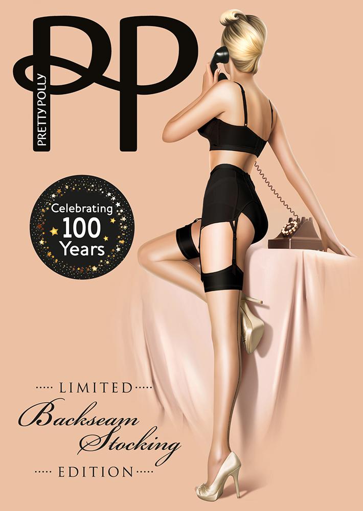 "Pretty Polly 10D. ""Nylons"" Centenary Naad Kousen"