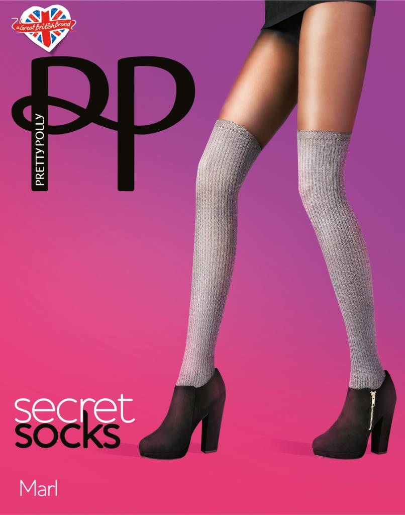 Pretty Polly Marl Secret Socks Panty