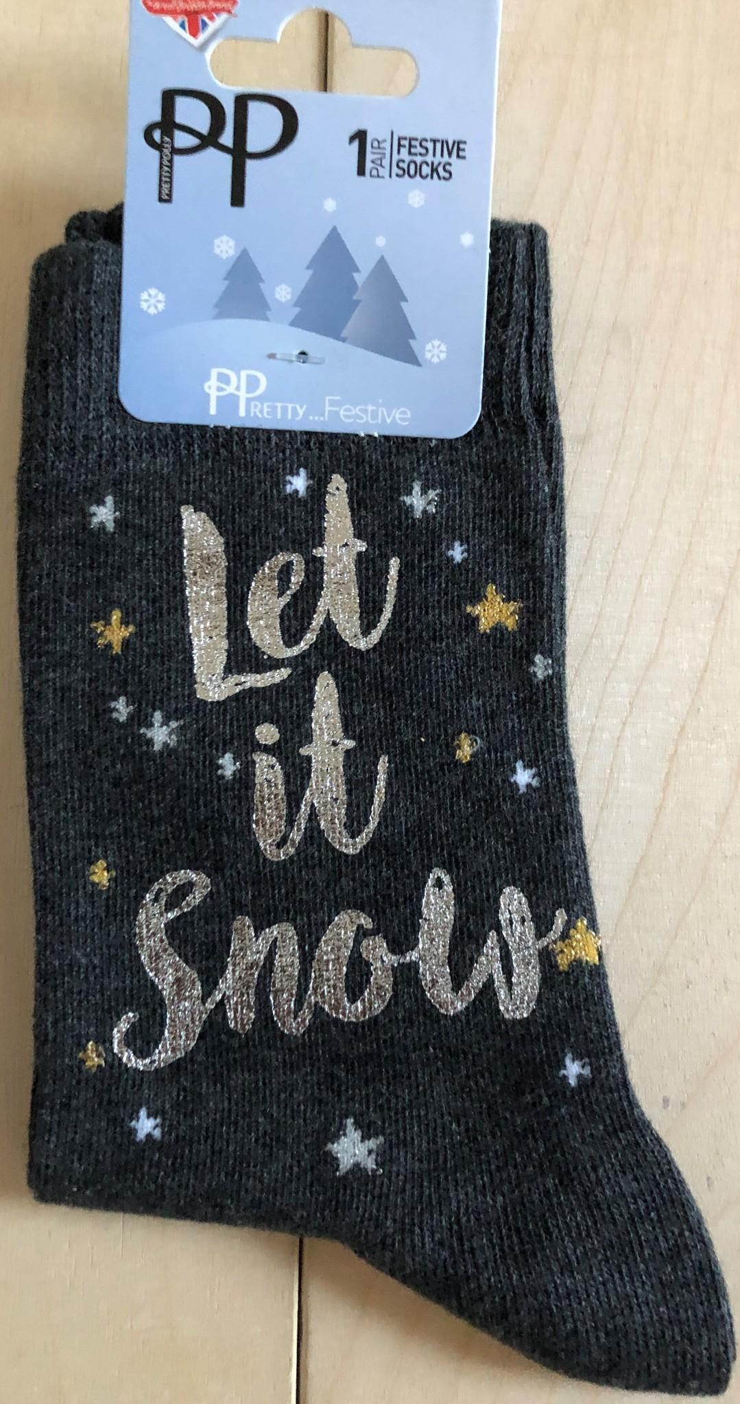 Pretty Polly Dames Let it snow sock