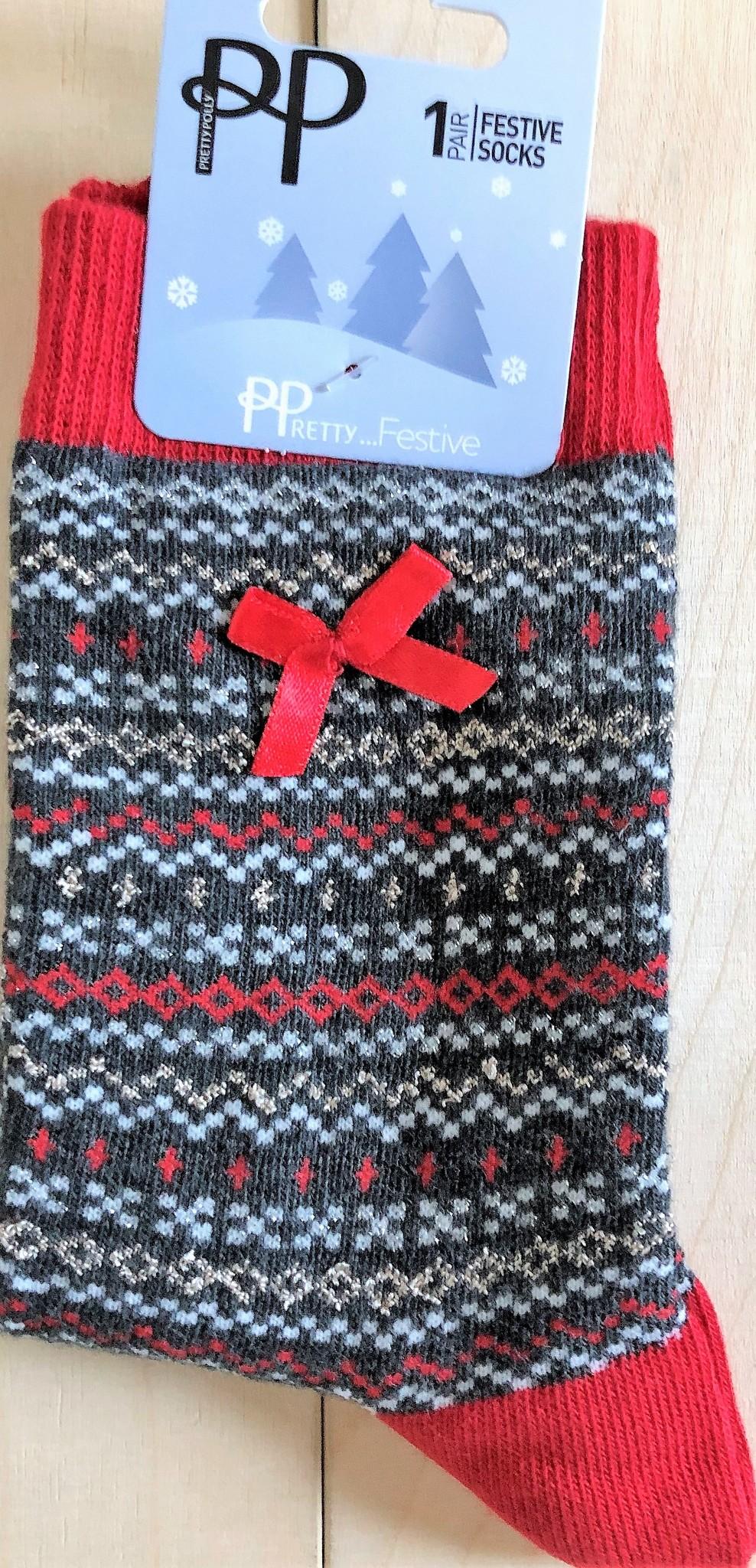 Pretty Polly Pretty Polly Fairisle Xmas socks