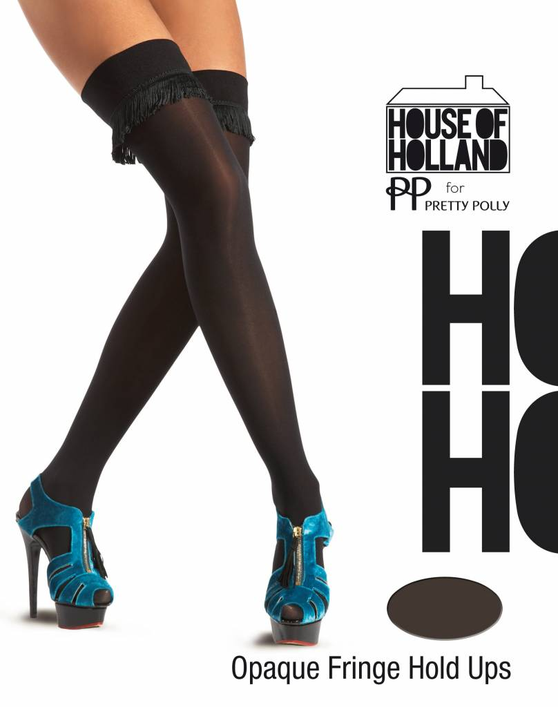 House of Holland Fringing Opaque Over the Knee Hold Up's