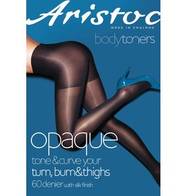 Aristoc 60D. Opaque Tum Bum and Tigh toner Tights