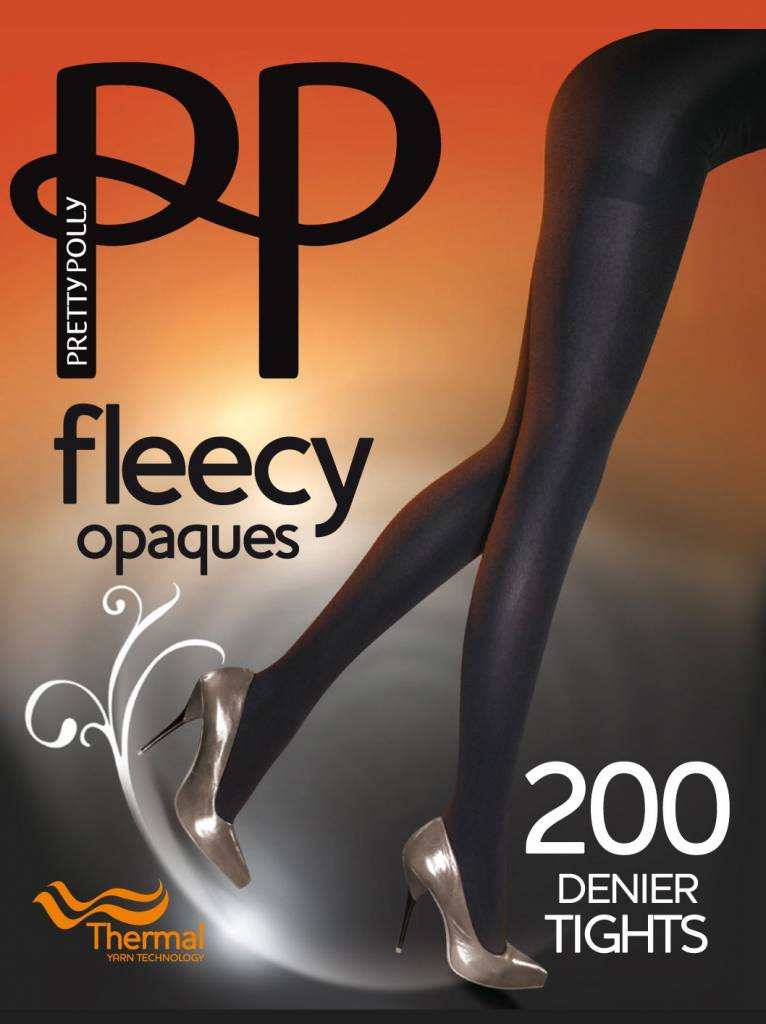 Pretty Polly 200D. Opaque Fleecy Panty