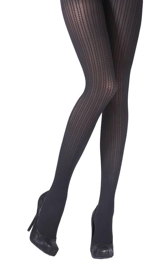 Pretty Polly Fashion Chevron Cable Opaque Panty