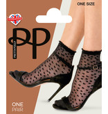 Pretty Polly Pretty Polly Sheer Heart Anklet 1pp - Zwart - one size