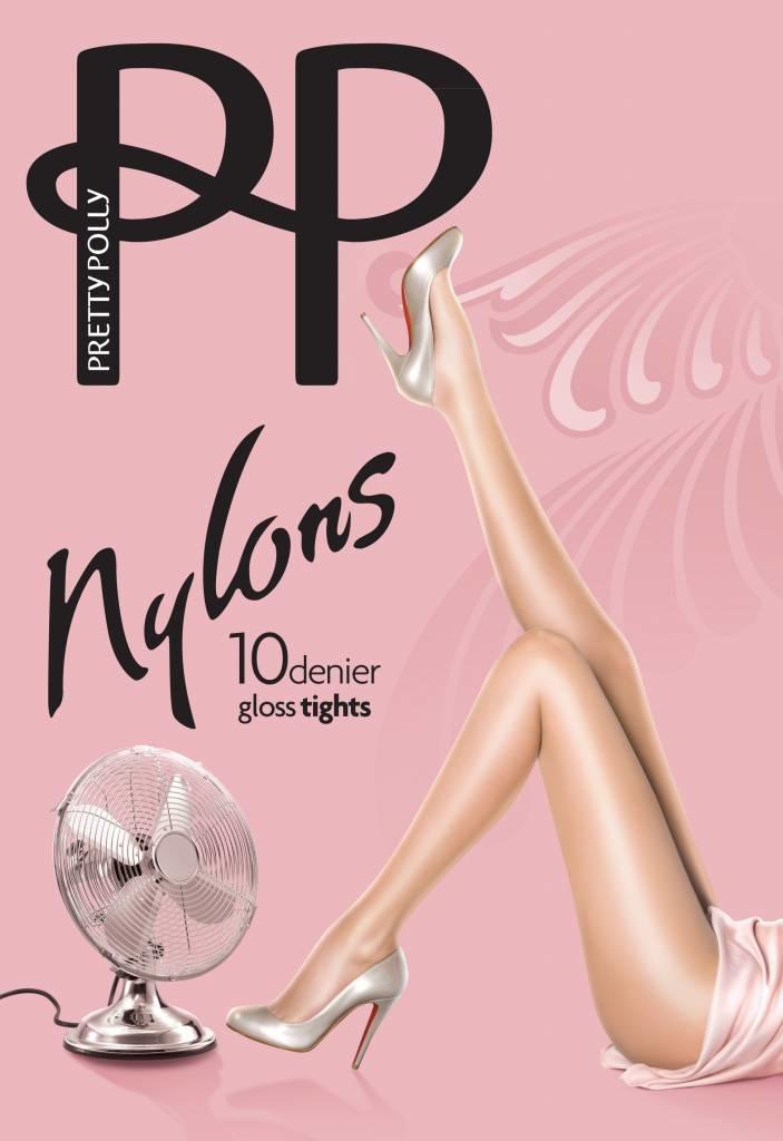 """Pretty Polly Pretty Polly 10D. """"Nylons"""" glans Tights"""